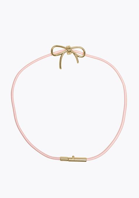 Pink Elastic Cord Belt
