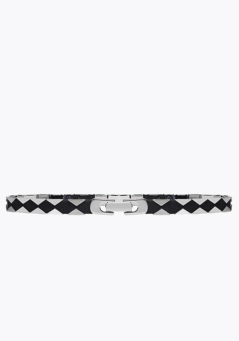 Cut-Out Belt - Silver