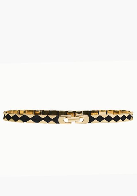 Cut-Out Belt - Gold