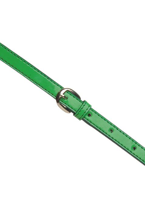 Zesty Green Skinny Belt