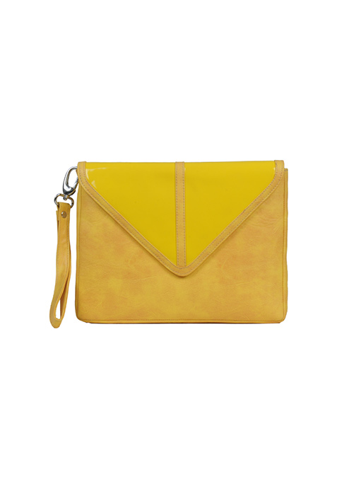 Yellow Oversized Envelope Clutch