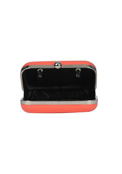 Neon Coral Candy Clutch
