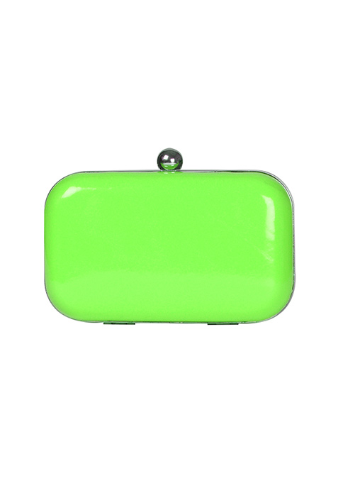 Neon Green Candy Clutch