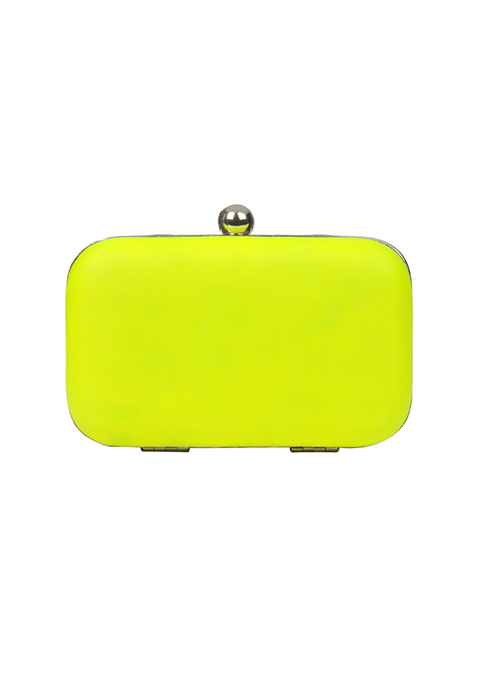 Neon Yellow Candy Clutch