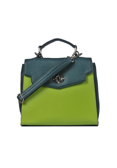 Lime Olive Colorblock Satchel