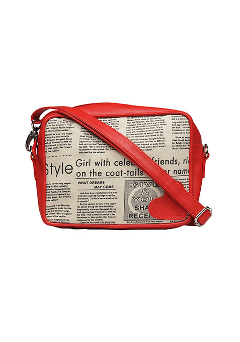 Newspaper Print Cosmetic Bag