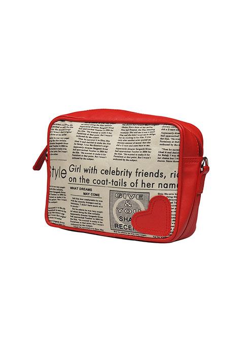 Newspaper Print Cosmetic Bag