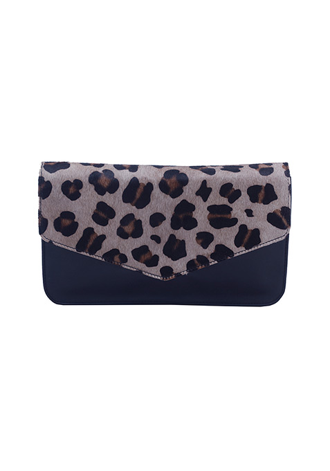 Leopard Flap Sling Bag