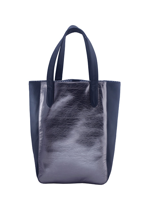 Black Panels Gunmetal Tote
