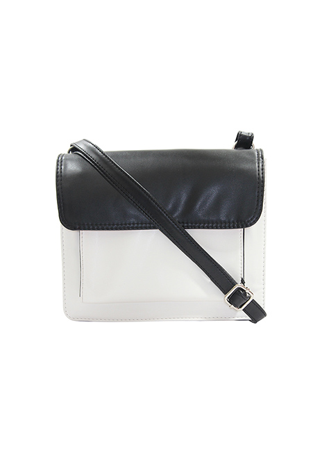 Monochrome Colorblock Crossbody Bag