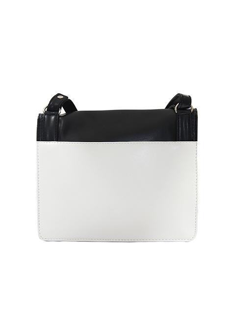 Monochrome Colorblock Crossbody Bag
