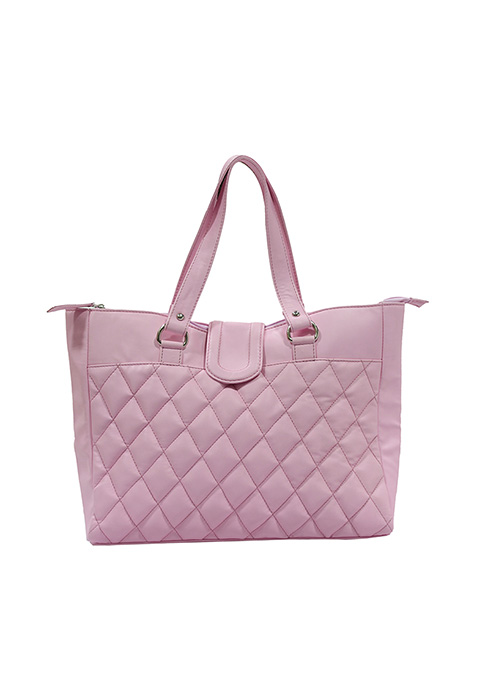 Powder Pink Quilted Tote