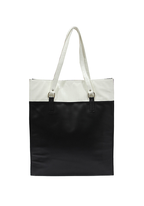 White On Black Classic Tote