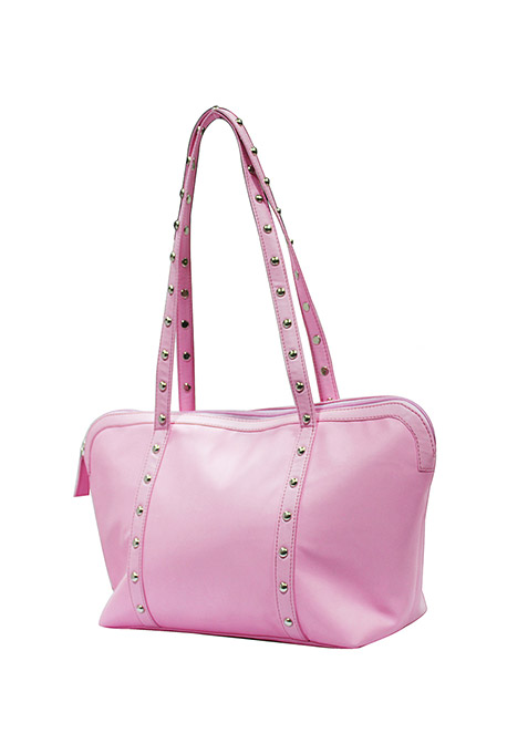 Pastel Pink Studded Tote