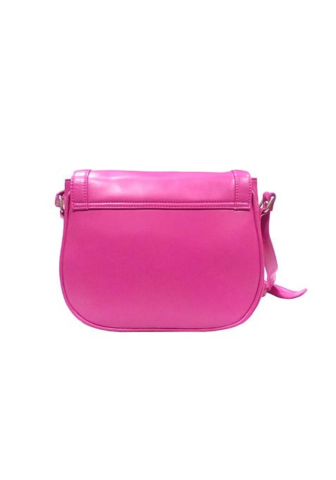 Front Flap Fuchsia Crossbody Bag