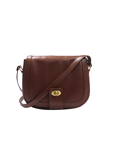 Front Flap Brown Crossbody Bag