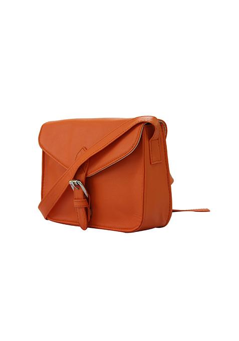 Orange Mini Messanger Bag
