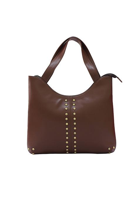 Stud Face Brown Bag