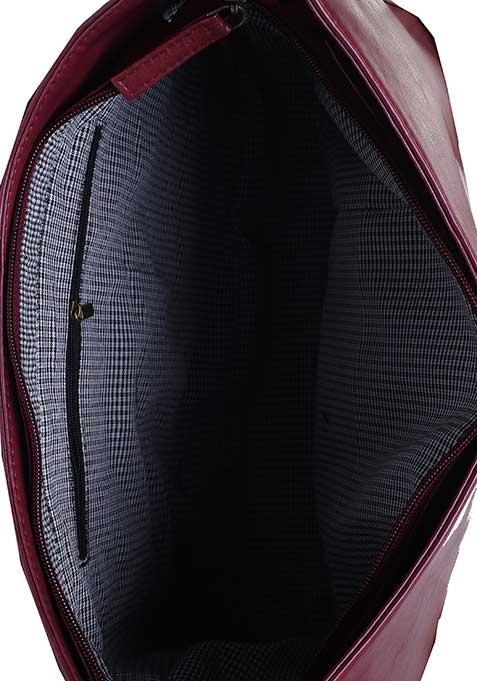 Burgundy Structured Hobo Bag