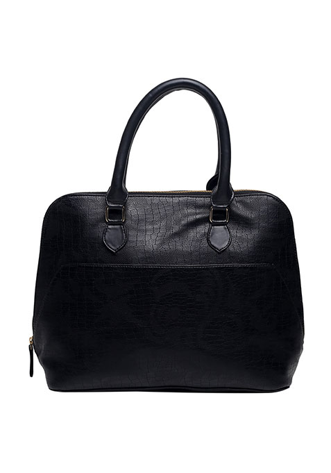 Black Croco Tote Bag