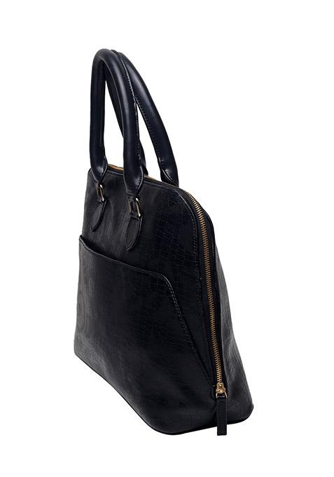 Black Croco Tote Bag