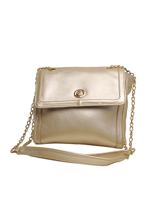 Glitzy Gold Mini Shoulder Bag
