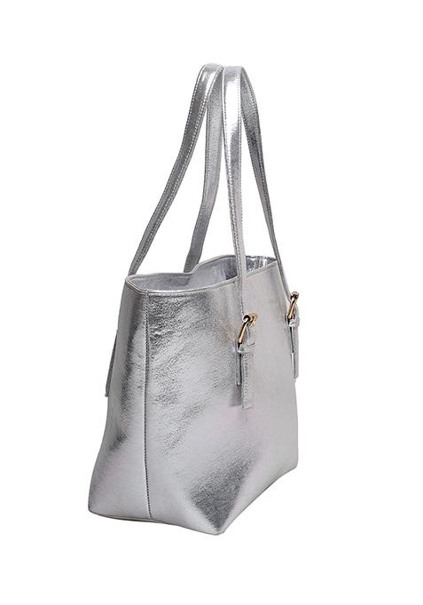 Silver Trapeze Tote Bag