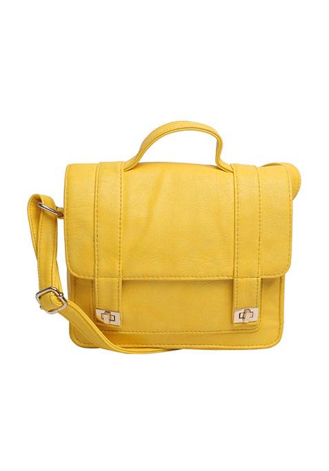 Sun Yellow Mini Satchel Bag