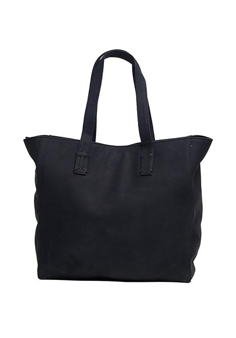 Bold Black Studded Tote Bag