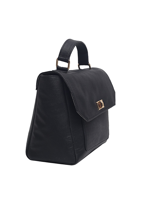 Corporate Chic Black Tote Bag