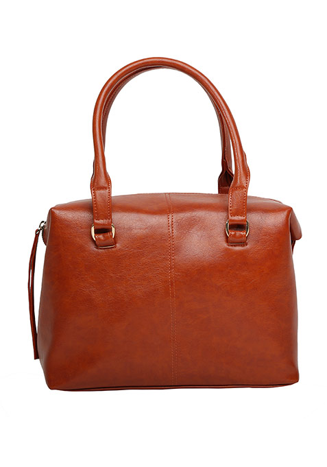 Tan Boxy Tote Bag