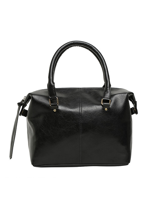 Black Boxy Tote Bag