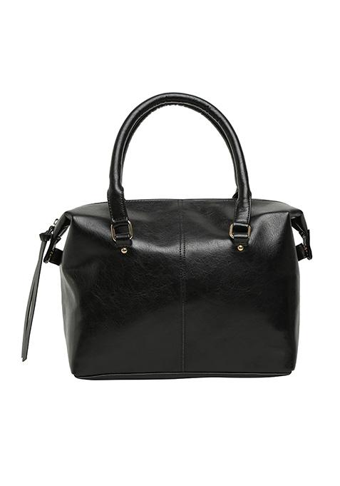 Black Boxy Tote Bag