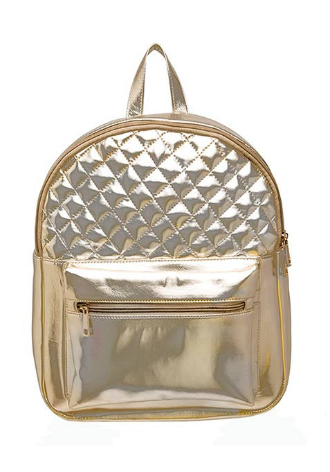 Gold Quilted Back Pack