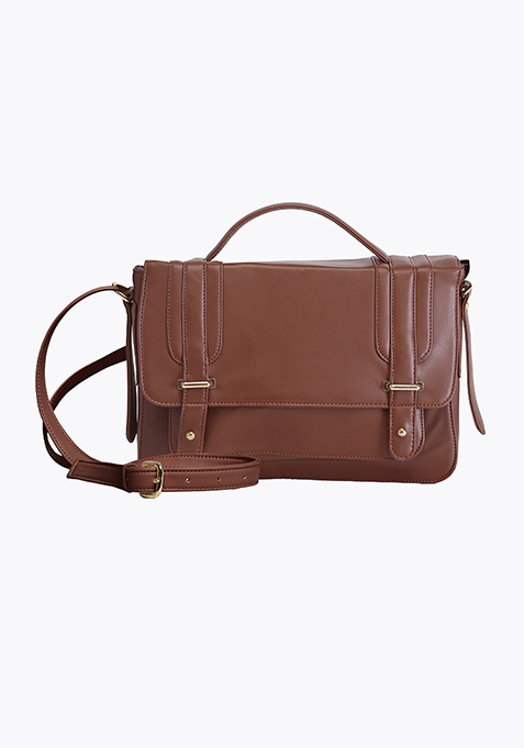 Cross Body Satchel - Brown