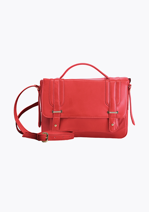 Cross Body Satchel - Red