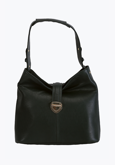 Black Slouchy Shoulder Bag
