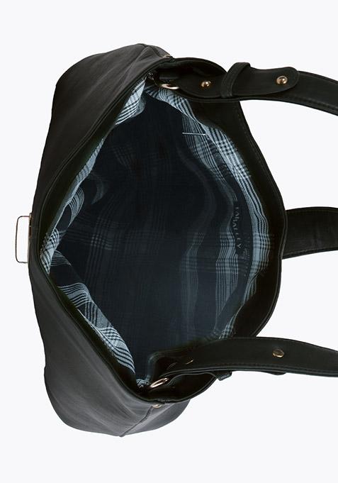Black Slouchy Shoulder Bag