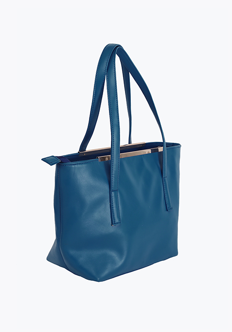 Cobalt Blue Shopper Bag