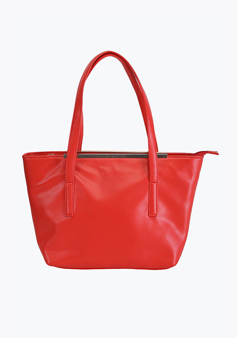 Brick Red Shopper Bag