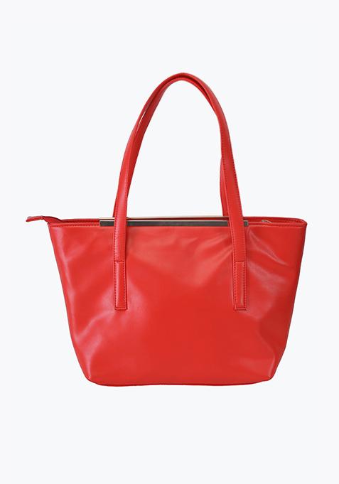 Brick Red Shopper Bag