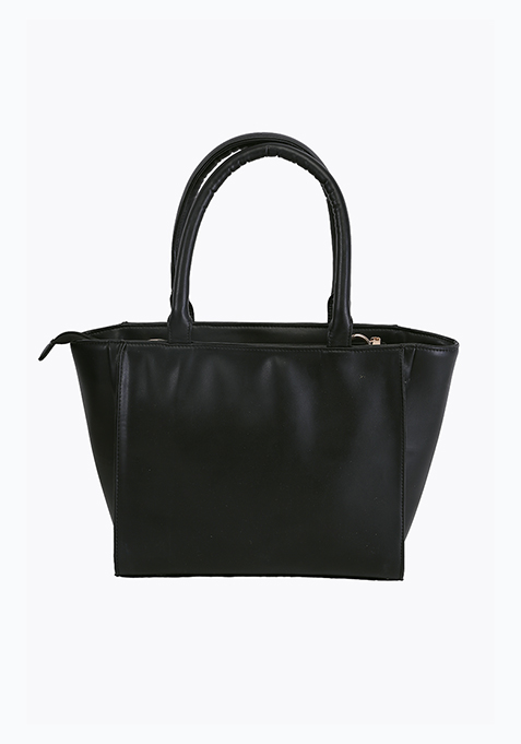Sublime Trapeze Tote Bag - Black