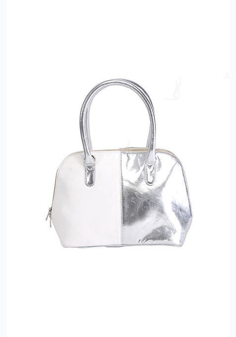Two Faced Tote Bag - Silver