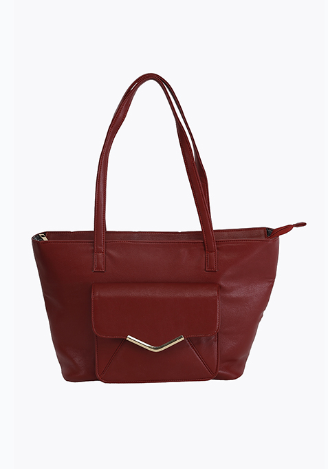 Utilitarian Tote Bag - Oxblood