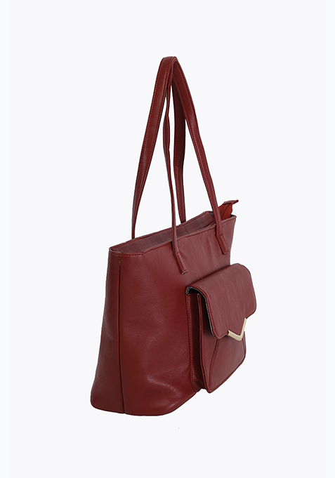 Utilitarian Tote Bag - Oxblood
