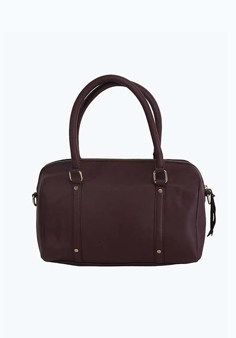 Brown Boxy Tote Bag