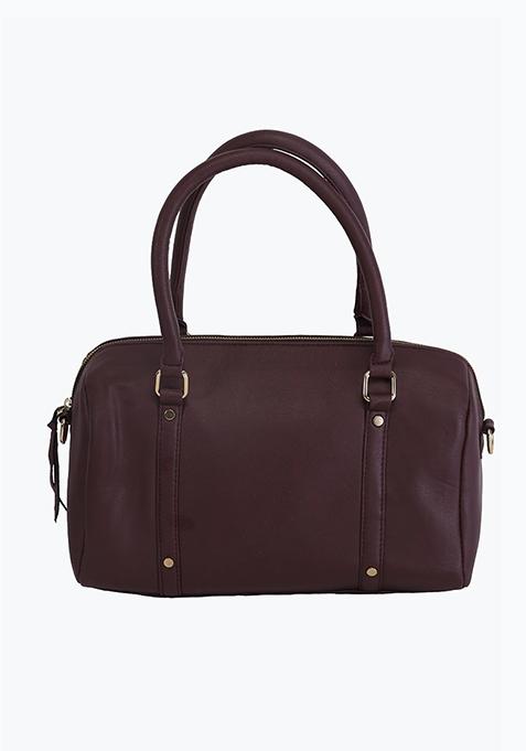 Brown Boxy Tote Bag