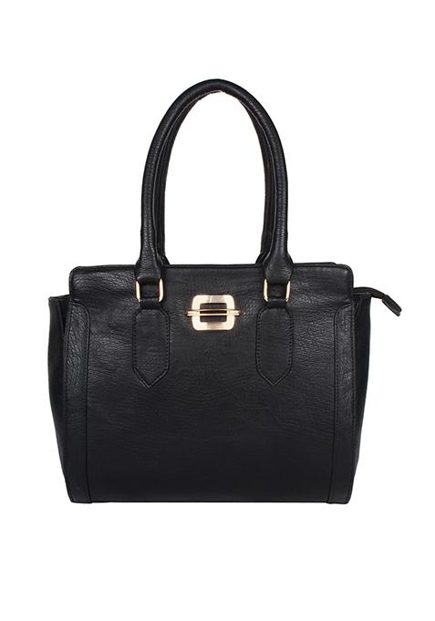 Pure Black Bowler Bag