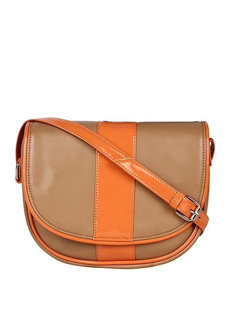 Half Moon Sling Bag - Orange