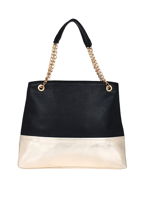Black On Gold Tote